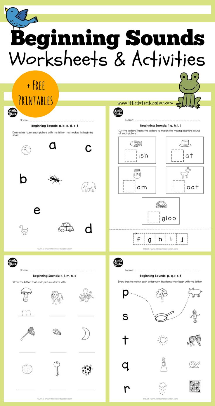 Free Beginning Sounds Worksheets For Letters A B C D And E For on Letter K Word List With Illustrations Printable Poster Color