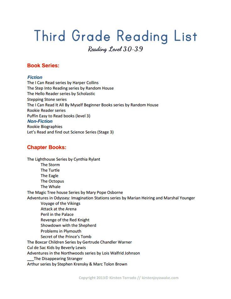 Third Grade Reading List.pdf-Kristen Joy Awake