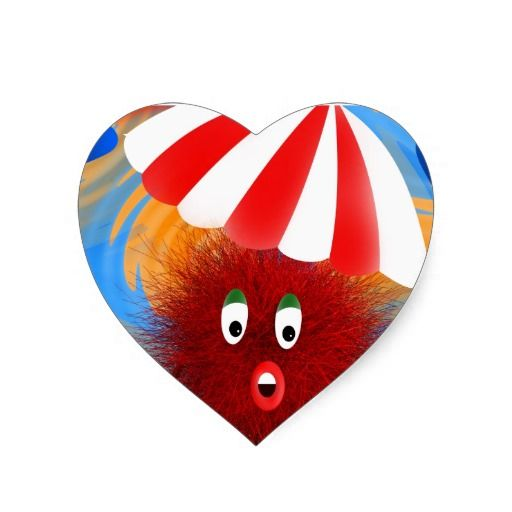 Hairy Holiday Maker Heart Stickers