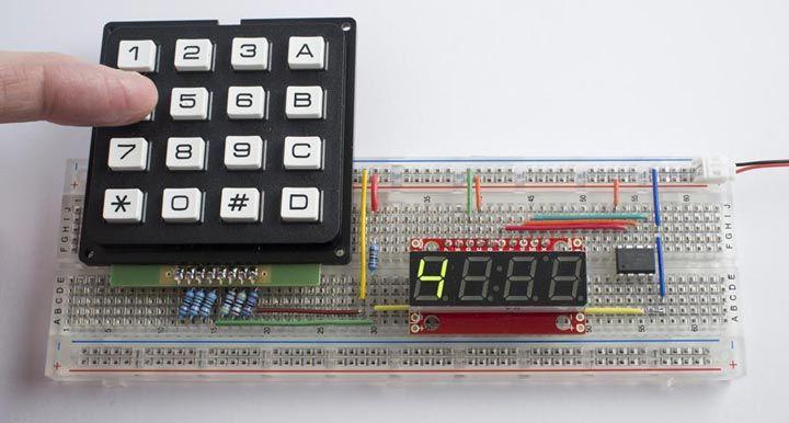 technoblogy one input keypad interface attiny85. Black Bedroom Furniture Sets. Home Design Ideas