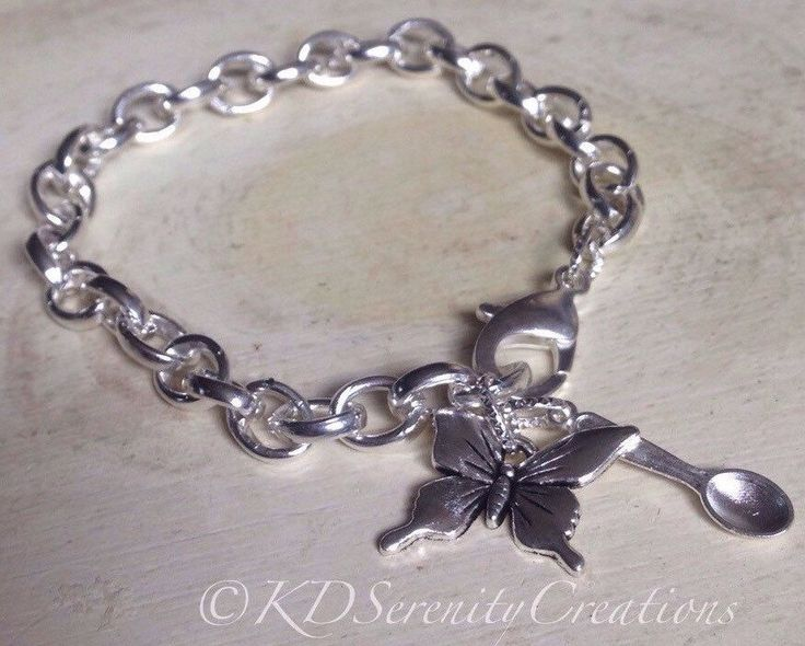 A light weight chunky bracelet! Add a gorgeous butterfly and spoon and you have this favorite from my Etsy shop https://www.etsy.com/ca/listing/256932420/lupus-awareness-butterfly-spoonie-charm