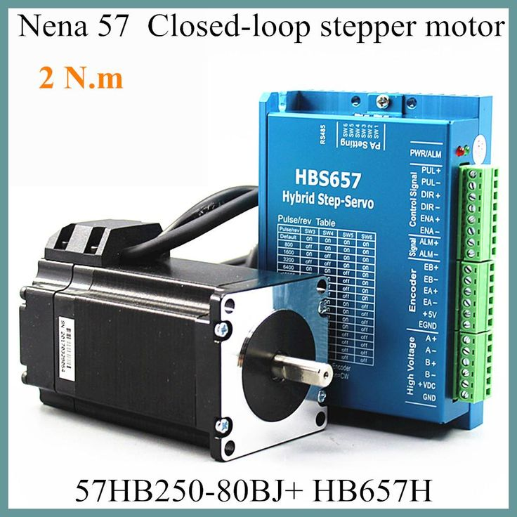 Nena 57 Closed-Loop Motor 57HB250-80BJ With Encoder Hybrid Stepping Motor 2.0N.m HB657H Driver 80mm High Speed 2.2N.m Motor