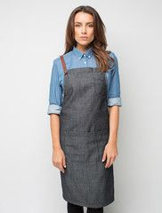 Henry Denim Bib Apron - Charcoal