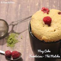 Comme une envie de gourmandise solitaire ... Mug Cake Framboise & Thé Matcha