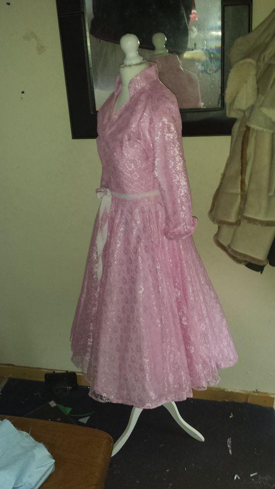 #Pink #Dress #Lace #Vintage #Dressmaking