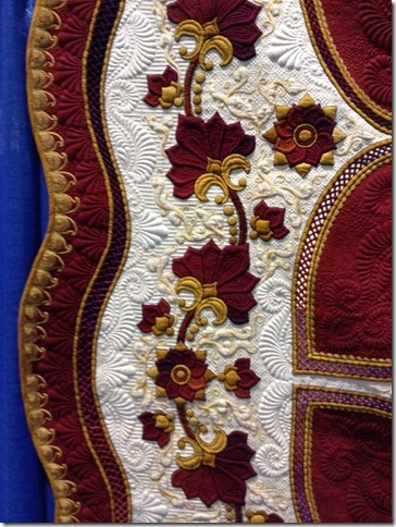 Sharon Schamber is so amazing. Her quilts blow me away. I would love to see some of her wedding dresses.