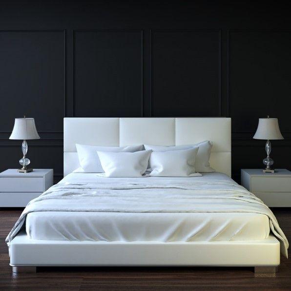 Aplicar color negro en la habitación genera un ambiente lleno de sensualidad.