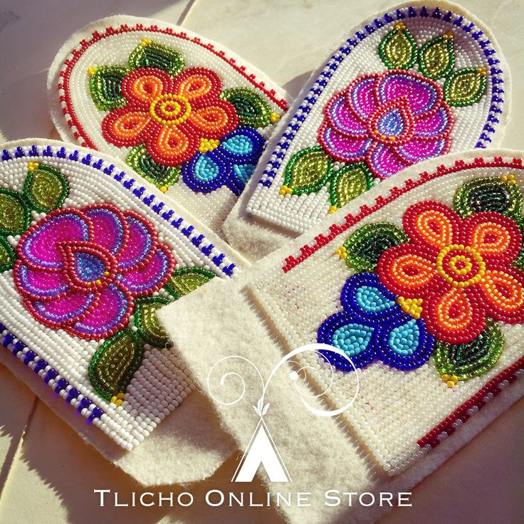 Outstanding #Tlicho #beadwork made from #Gamètì, NT.
