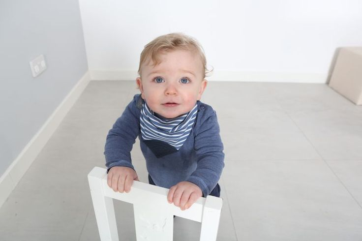 Neckerchew #teethingbaby is soft, lined, AND reversible! Preppy stripes #cheekychompers