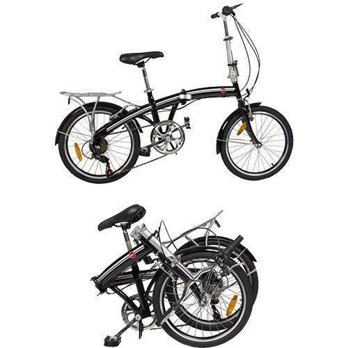 """NEW Bike Bicycle Folding 20"""" Cycling Retro Sports Outdoor Summer Activity Black #FoldingBicycles"""