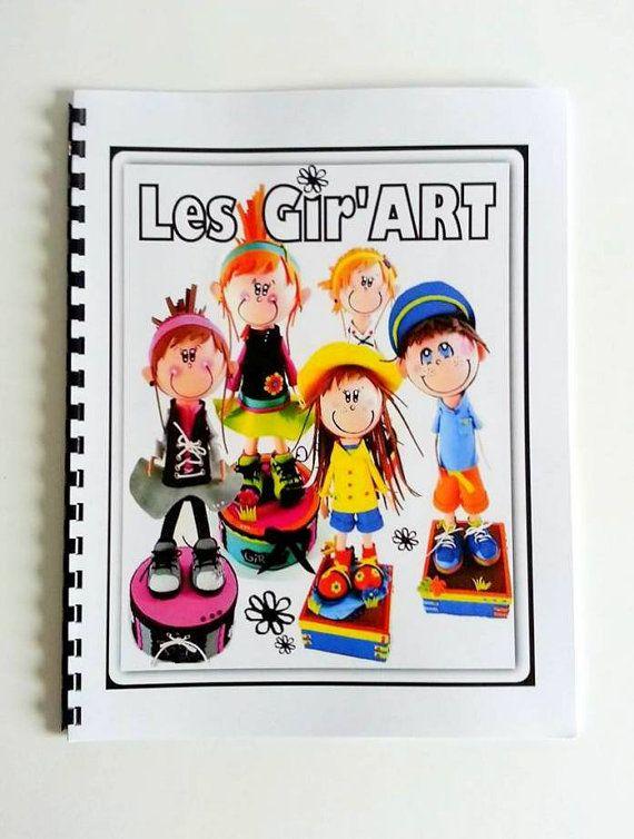 Cahier d'activité pour enfants  Les Gir'Art  par CreationsUnika