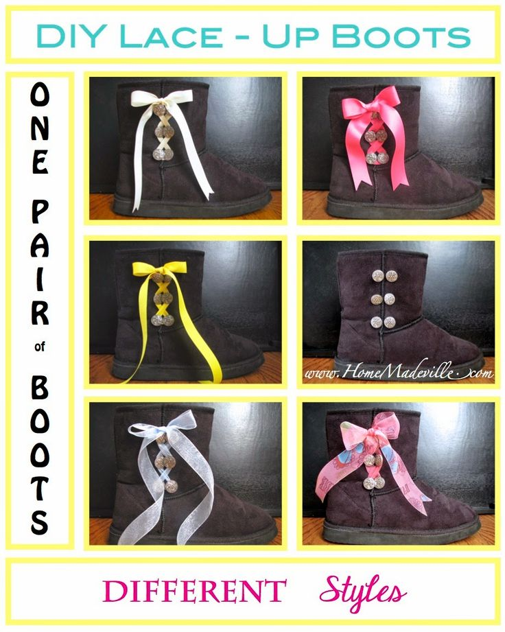 DIY Lace-Up Boots - a perfect gift idea too!
