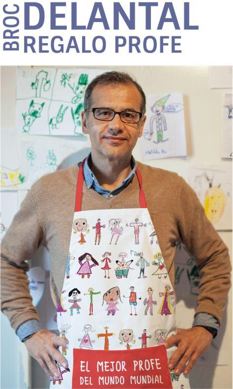 Sorpende a tu profesor, maestro o entrenador con un delantal personalizado con los dibujos de sus alumnos. El regalo con más sentimiento para el profe. www.mrbroc.com