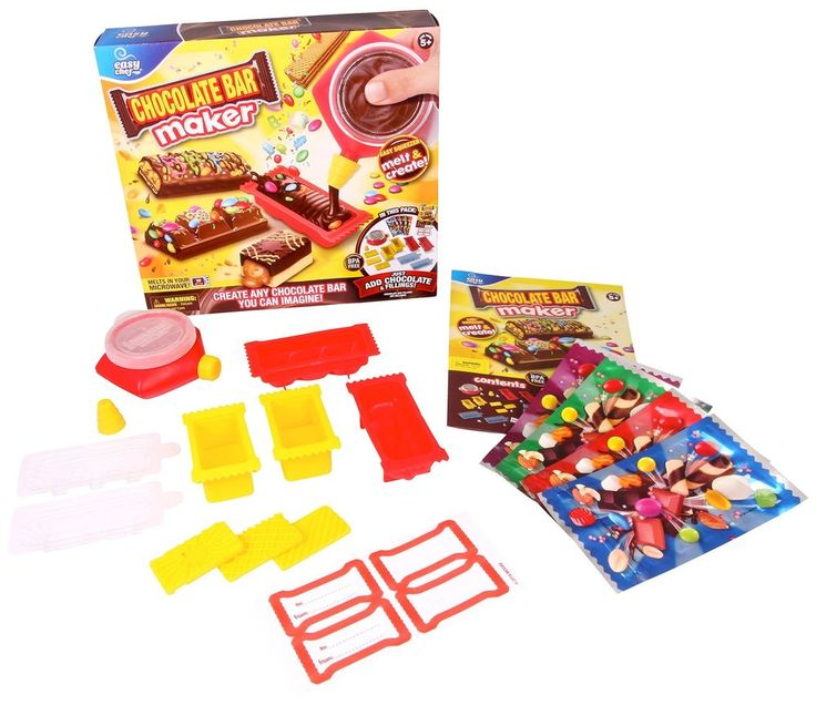 Kids Toys Chocolate Bar Maker Candy Molds Little Pastry Cook Christmas Gift NEW #KidsToysChocolateBar