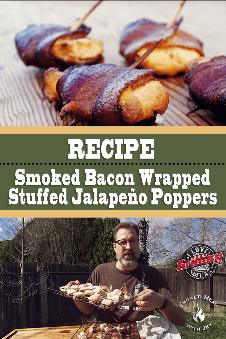 Smoked Bacon Wrapped Stuffed Jalapeno Poppers