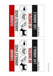 Plantilla de etiquetas de transporte de animales vivos