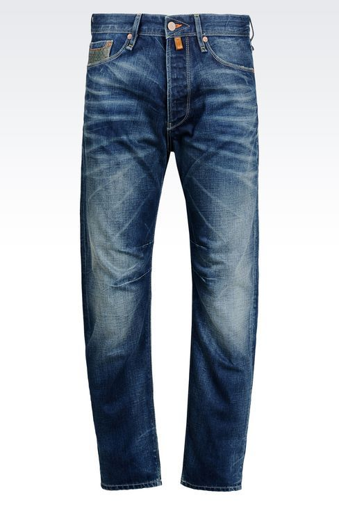 Armani Jeans Men Jeans - MEDIUM WASH ANTI FIT JEANS Armani Jeans Official Online Store