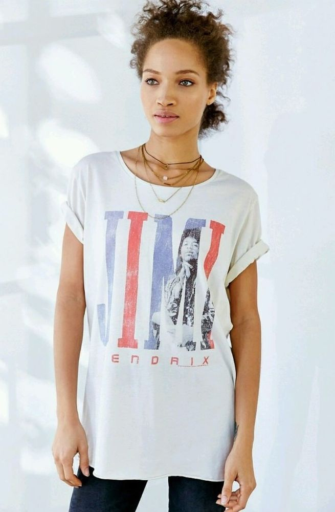 NEW URBAN OUTFITTERS JUNK FOOD WOMEN'S JIMI HENDRIX TOUR TEE T SHIRT SIZE SMALL #JunkFood #GraphicTee
