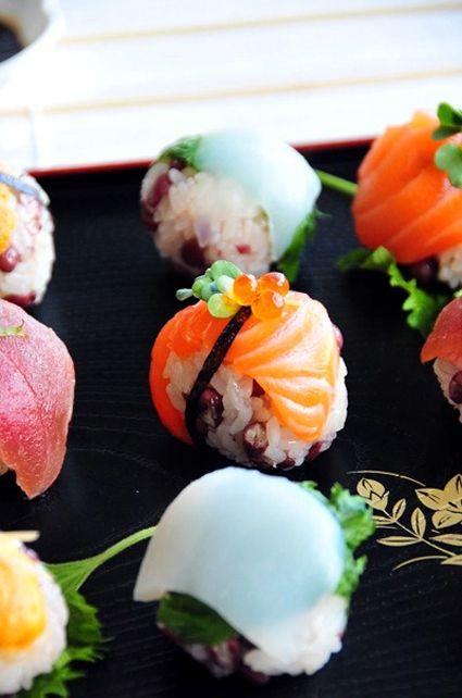 春ーTemari sushi 手毬寿司
