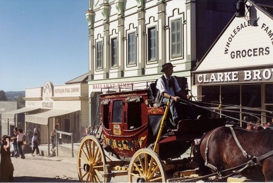 Try your luck at getting rich #Sovereign Hill, Ballarat during your stay at Keebles Guest House Clunes
