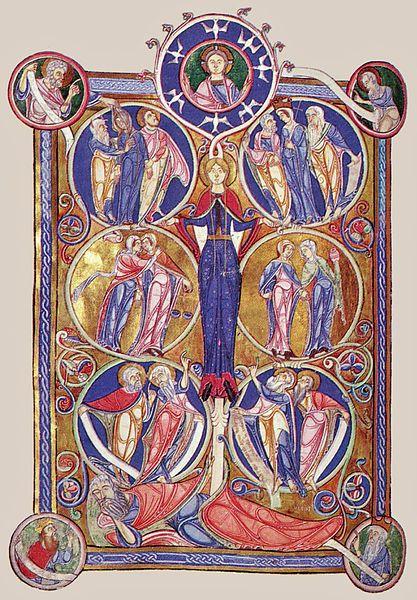 Biblia Lamberth, Arbol de Jessé S. XII