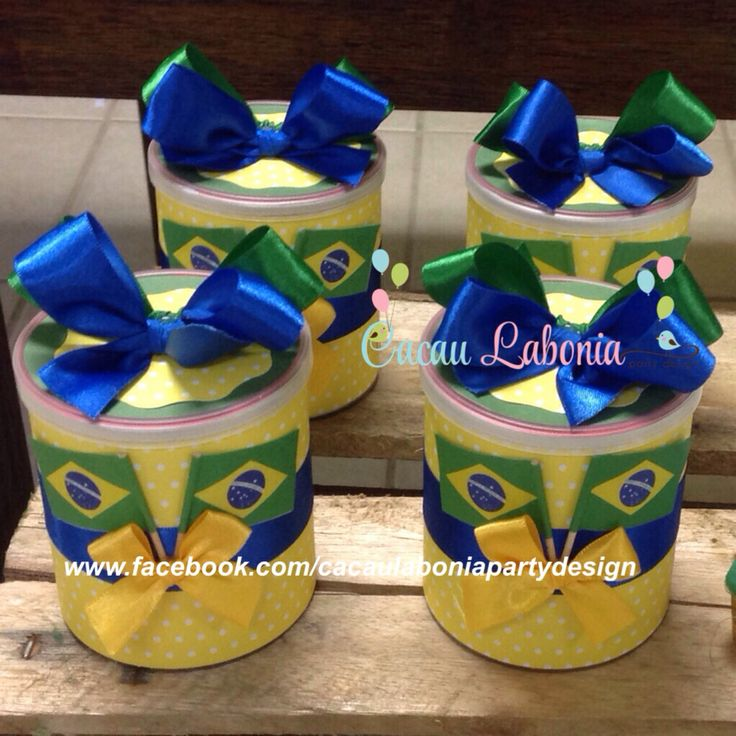Batatas decoradas!  Festa do Brasil, Brazil Party, Festa da Copa, Cup Party