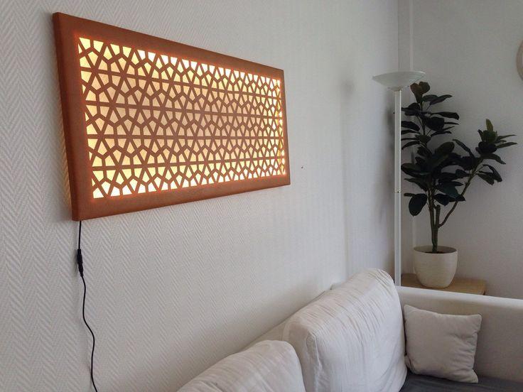 Wandbild Wanddeko mit modernem geometrischem Muster mit LED Leinwand Licht Leuchte von YubiDe auf Etsy https://www.etsy.com/de/listing/278192110/wandbild-wanddeko-mit-modernem
