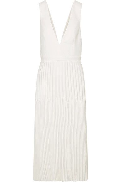 Dion Lee | Pleated piqué maxi dress | NET-A-PORTER.COM
