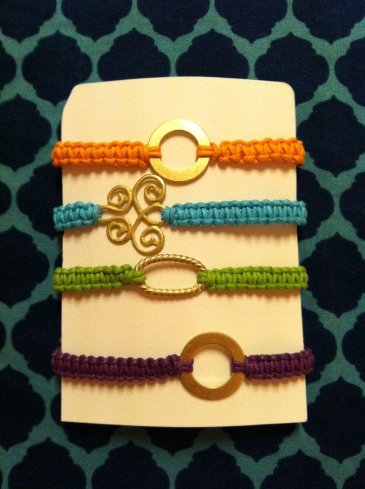 DIY Macrame Bracelet colors charms  accessories, bracelets, cords, jewelry, knots, nylon