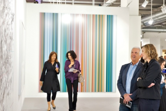#GerhardRichter Stripe Painting sold at Art 43 Basel for undisclosed price by Marion Goodman Gallery, New York