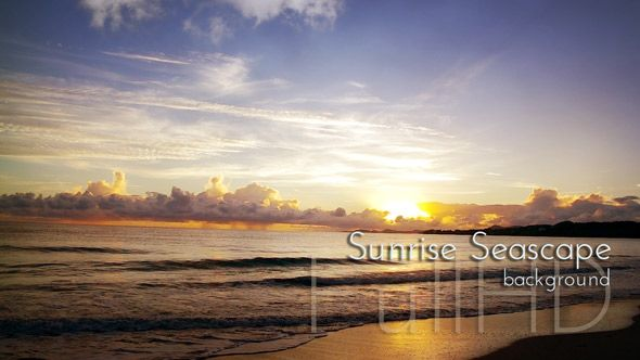 "Sunrise Seascape on Sandy Beach From ""Caribbean"" video collection. #caribbean #sunrise #seascape #sandybeach #traveling"