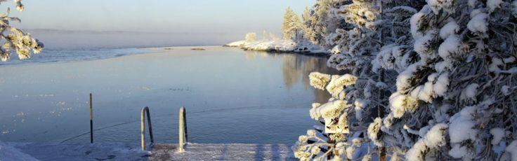 Talvi Näsijärven rannalla