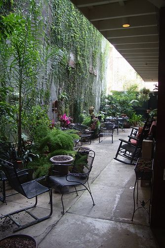Typical French Quarter courtyard