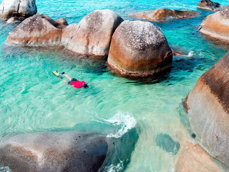 The Baths on Virgin Gorda are a must for any visitor to the island—although it's best to get there early in the morning or the late afternoon to dodge overcrowding by cruise ship tours. Gigantic granite boulders form a series of natural tidal pools filled with a myriad of grottoes and tunnels to explore. The further from the shore you go, the better the coral and sea life is.Favorite place to stay: Alas, the Rosewood Little Dix Bay will be closed for renovations through late 2017, so head…