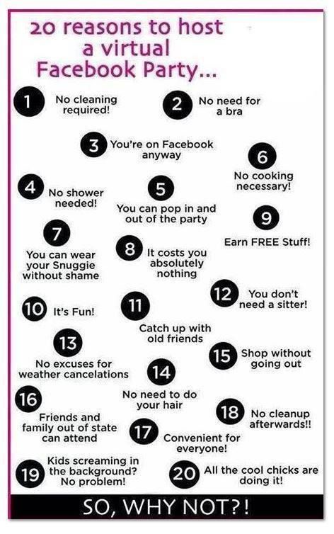 Here are 20 awesome reasons to host an online party. Interested in hosting an online Jewelry in Candles party and earning sweet smelling rewards? Just message me and let me know! :) https://www.jewelryincandles.com/store/kpotter
