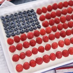 Breyers® Ice Cream Flag Cake |  A tasty patriotic treat made with Breyers® Chocolate Ice Cream