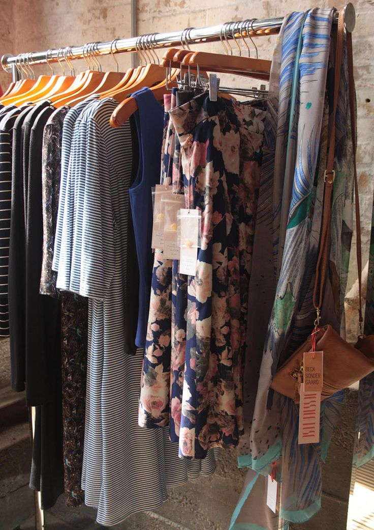 Mariniere striped dresses and floral pleated skirts in our Toronto boutique.  So sweet for sunny days!