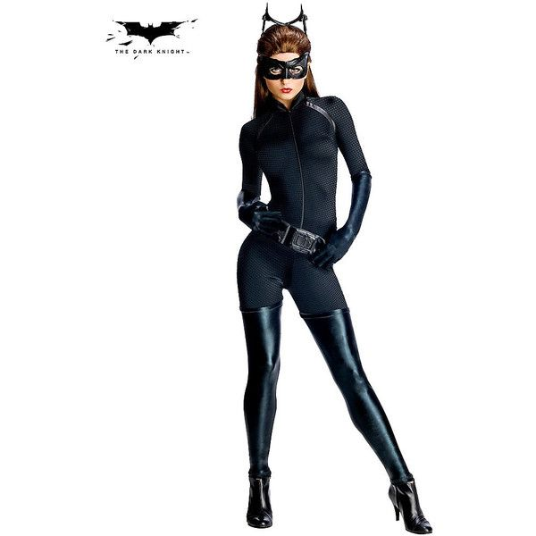 Batman The Dark Knight Rises Catwoman Costume ($55) ❤ liked on Polyvore featuring costumes, halloween costumes, multicolor, sexy batman costume, batman dark knight rises costume, cat halloween costumes, catwoman costume and cat costume