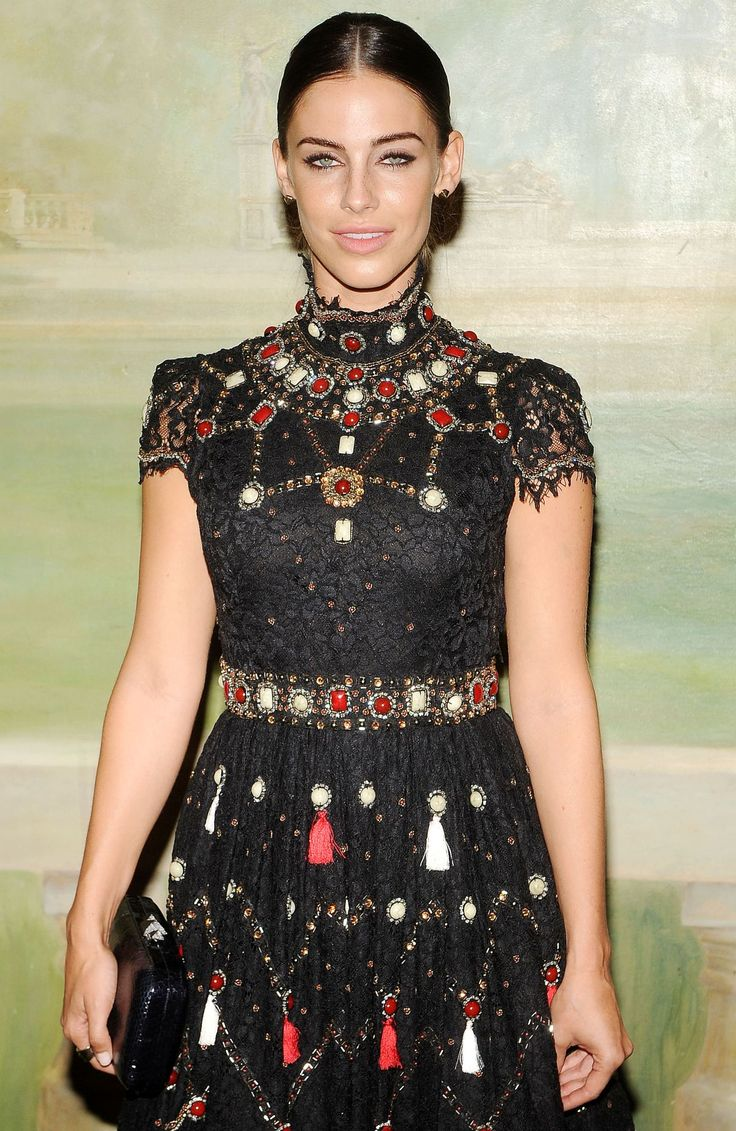 JESSICA LOWNDES at Alice+Olivia by Stacey Bendet Fashion Show in New York
