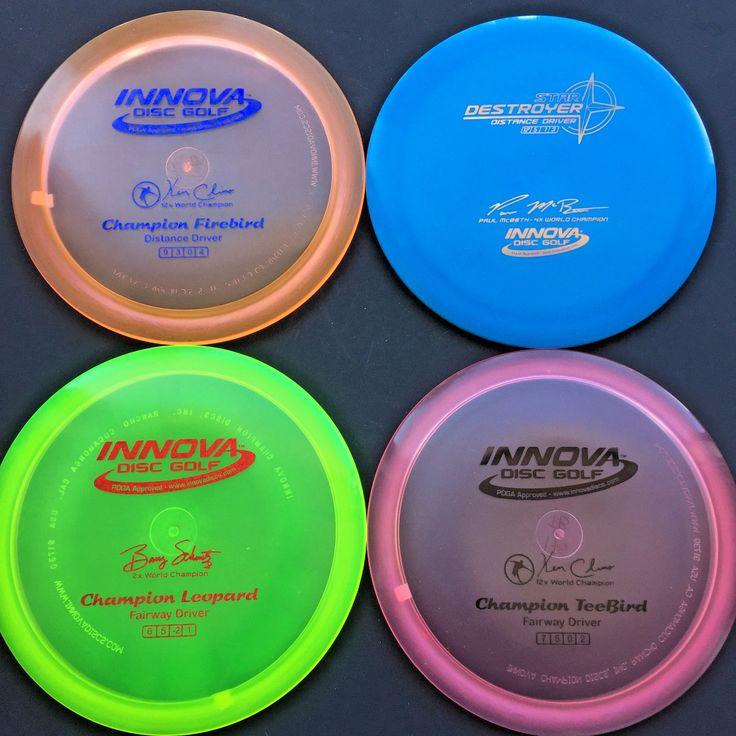 Disc Golf 20851: Wingz Disc Golf Lot * Set Of 4 New Innova Discs * Destroyer Leopard Firebird BUY IT NOW ONLY: $47.95
