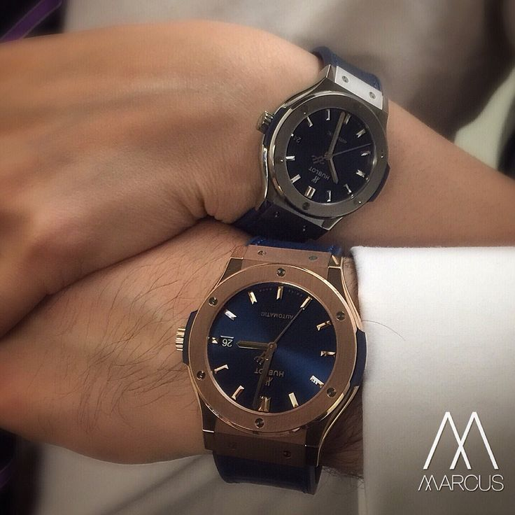 His and hers The Hublot Classic Fusion with blue dial. His ...