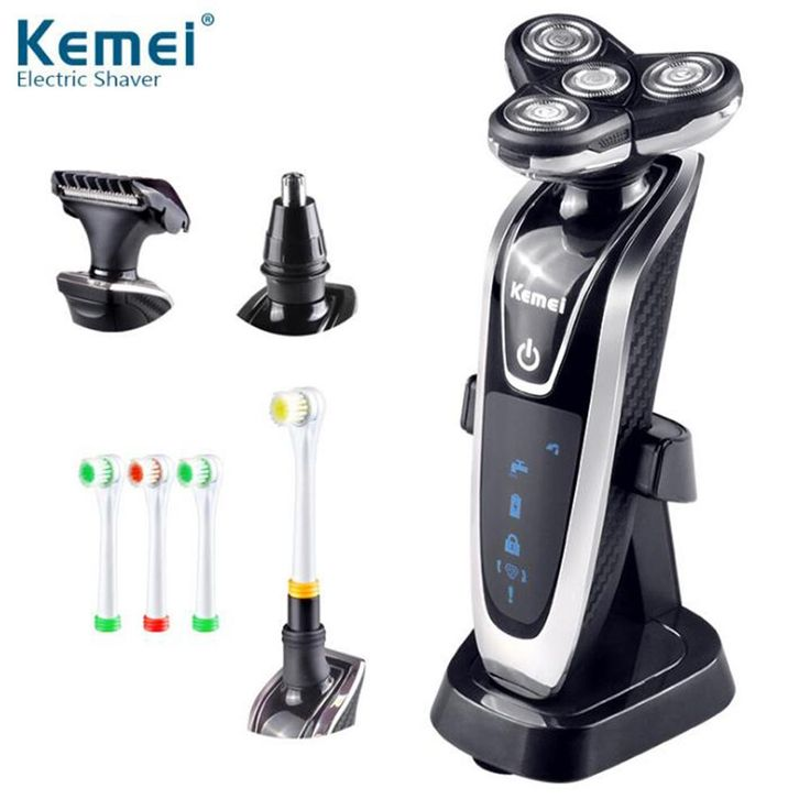 [Visit to Buy] kemei5181 4 in 1 Washable Rechargeable Electric Shaver Triple Blade Electric Shaving Razors Face Care 3D Floating Free Shipping #Advertisement