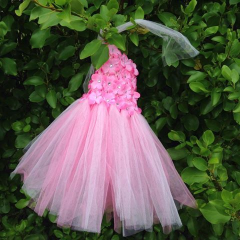 Pretty in Pink Flower Tutu with Matching by MajackalCreations, $34.00