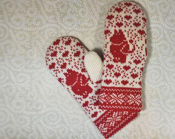 Hand-made adult mittens, wool mittens, Christmas Gift, Estonian mittens