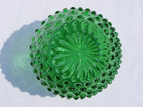 Borske Sklo green ball glass vase by art-of-glass, via Flickr