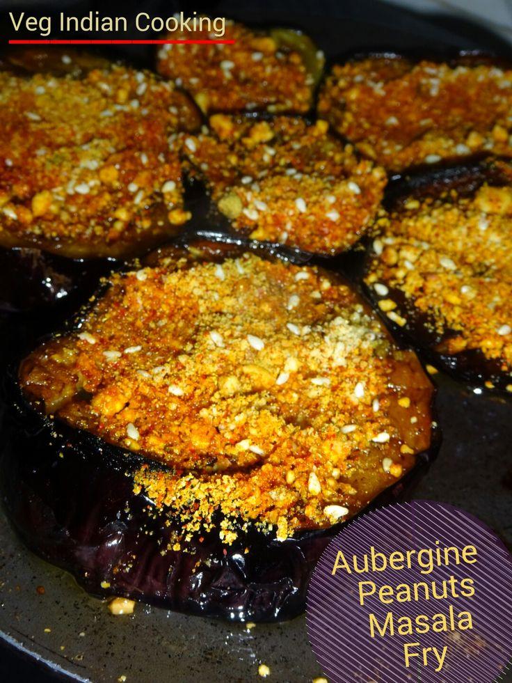 Aubergine Peanuts Masala Fry | Veg Indian Cooking #brinjals #indianfood #indiancuisine #Aubergine #eggplant #foodblogger