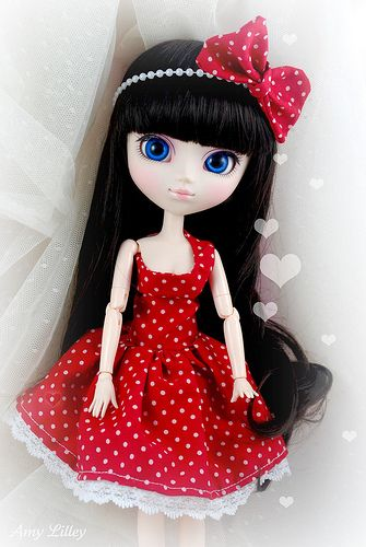 #60s dress - See more: http://shop.1960sfashion... ...1960s style Pullip dress