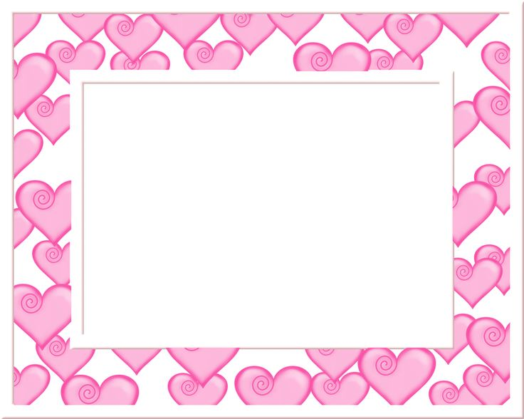 Pink and White Heart Frame 2