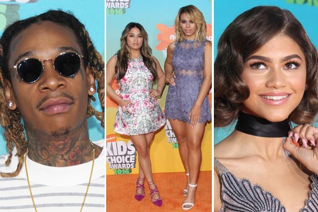 Zendaya, Wiz Kahlifa and Fifth Harmony Win Big at 2016 Kids' Choice Awards
