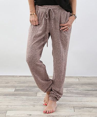 Look at this #zulilyfind! Dusty Pink Pocket Lounge Pants by Coco and Main #zulilyfinds